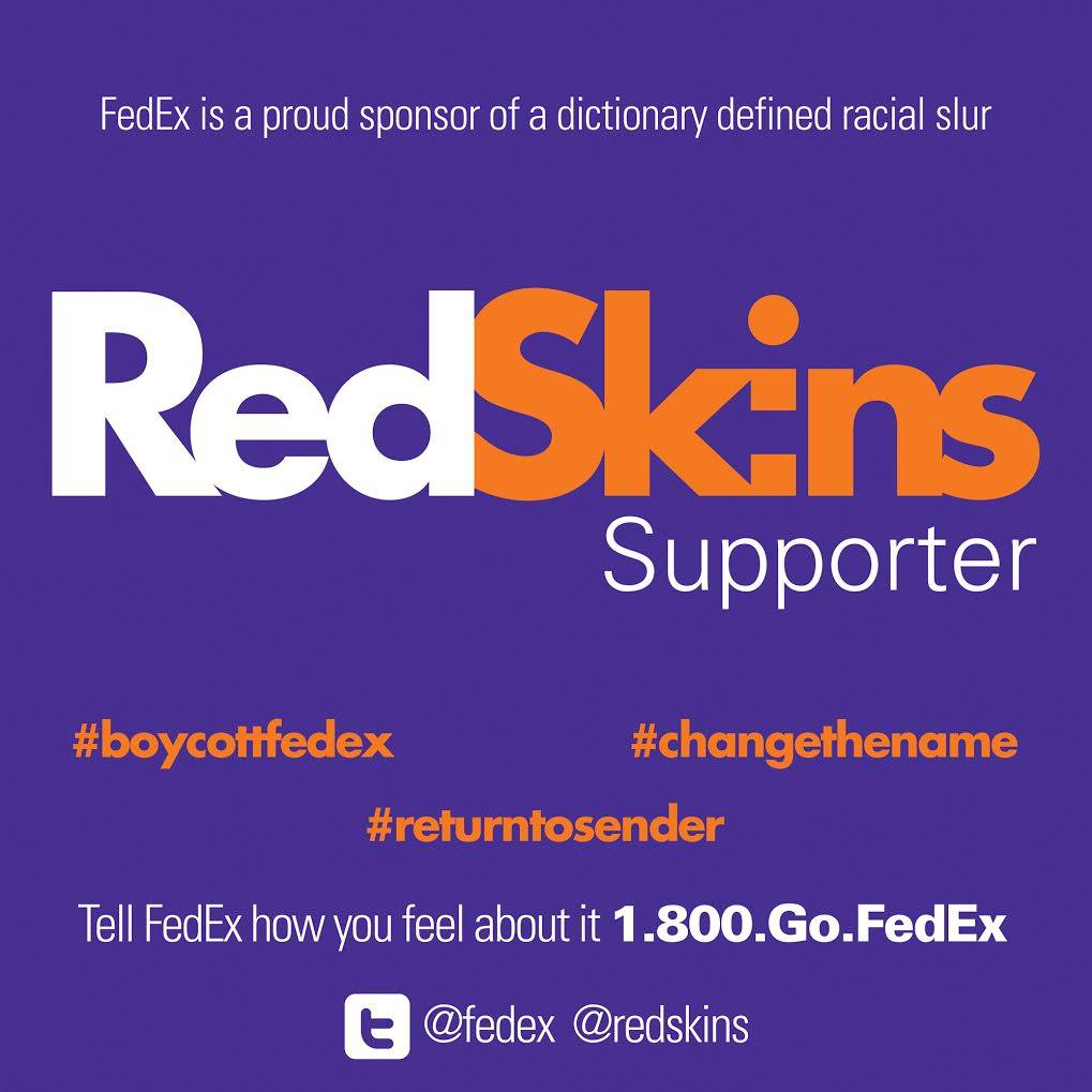Osages protest 'Redskins' name with FedEx boycott