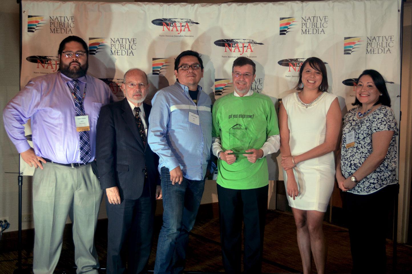 Osage author receives NAJA Medill Milestone Achievement Award