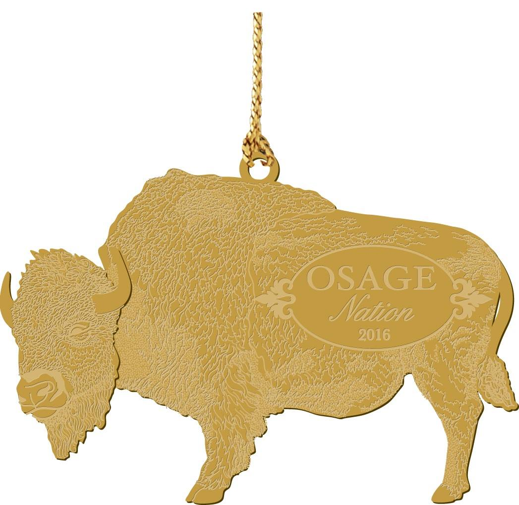 Osage Foundation selling 2016 collectable buffalo ornament