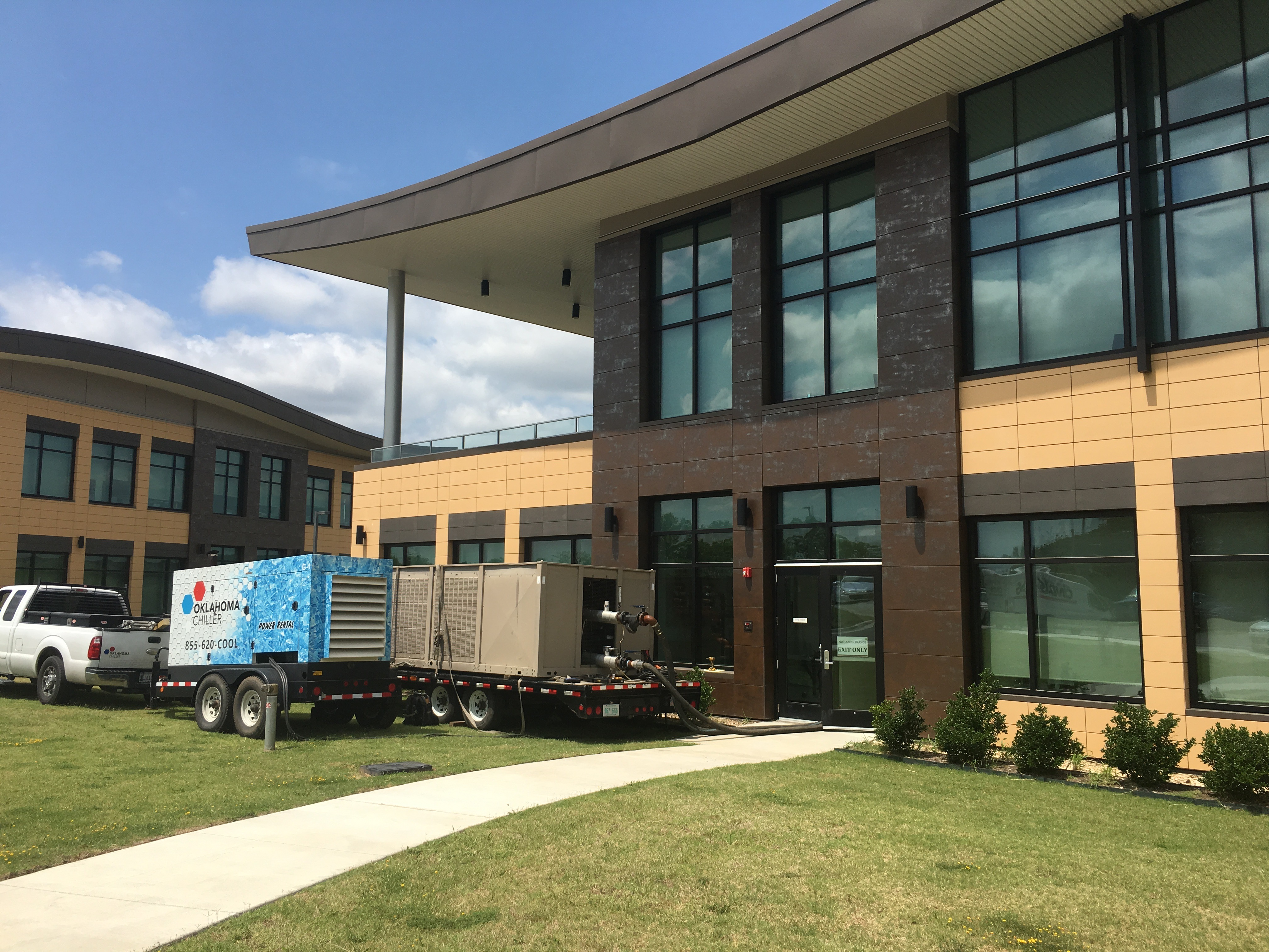 Osage Nation Welcome Center air conditioning under repair