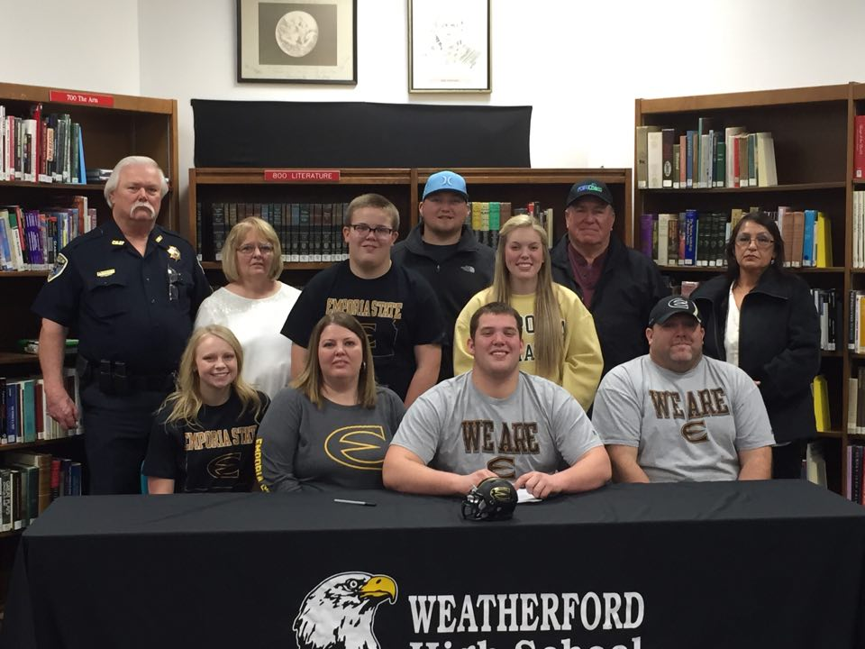 Haworth signs to play football and track and field at Emporia State University