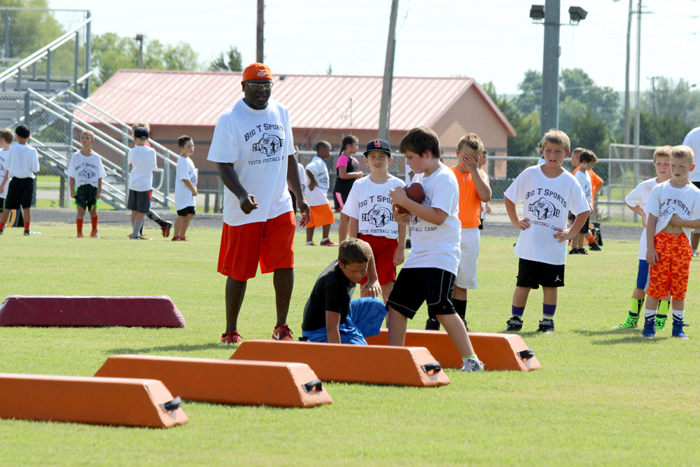Football camp held in Pawhuska coached by former college and pro players
