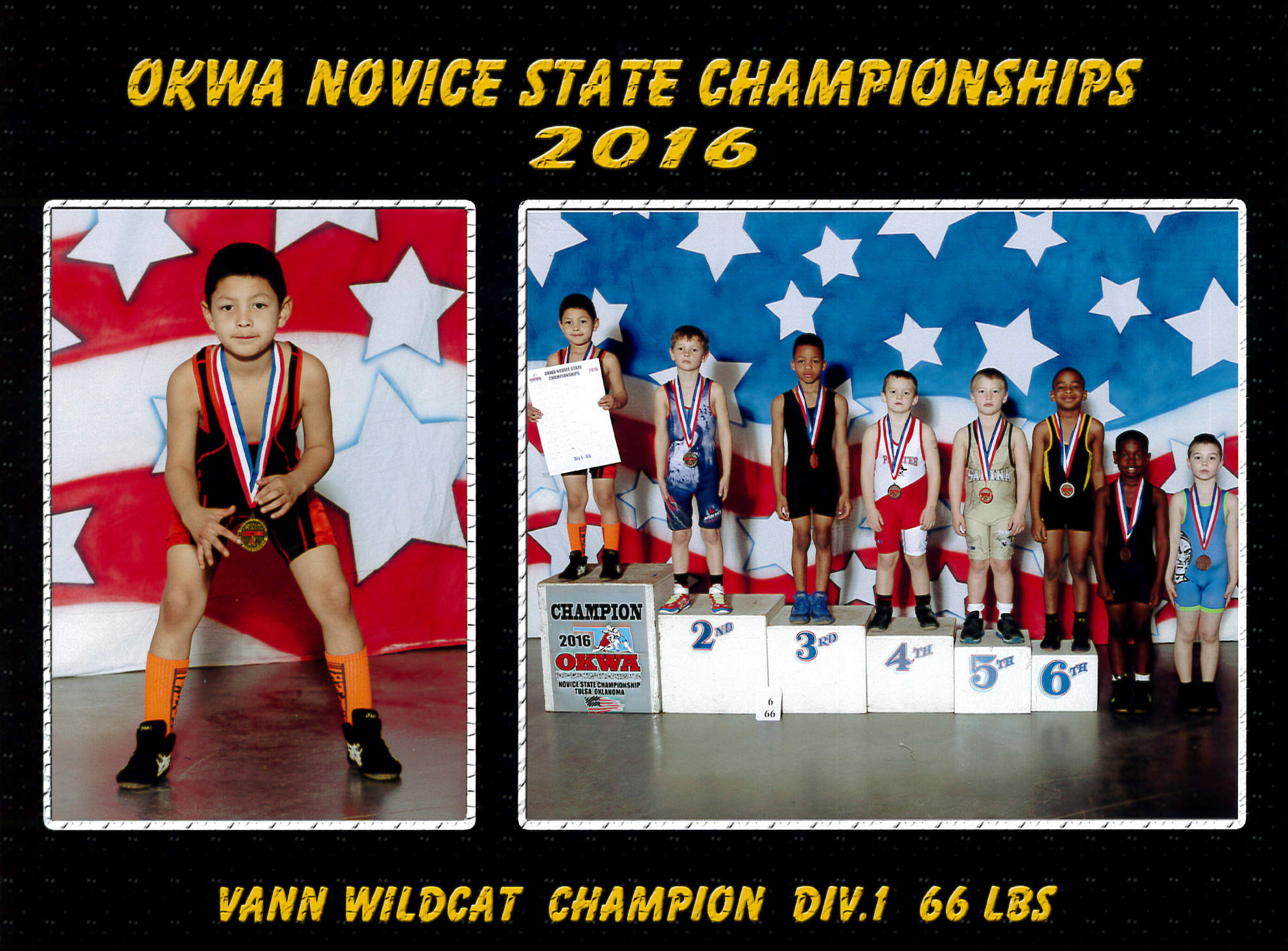 Vann Wildcat is the 2016 OKWA Novice State Champion