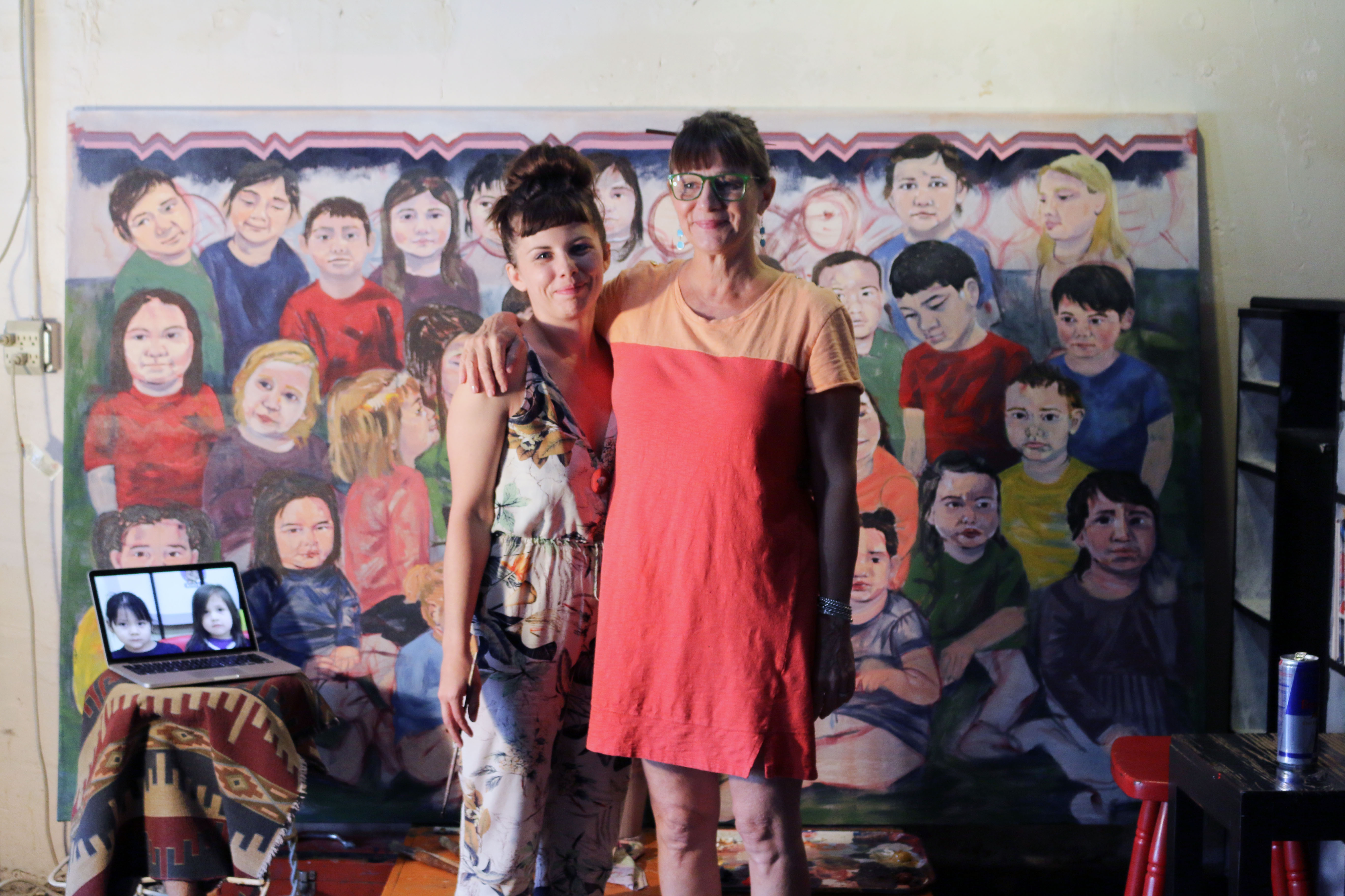 Mother and daughter create murals for WELA and Immersion facilities