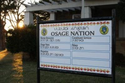 Osage-English signs make the Nation's first language more visible